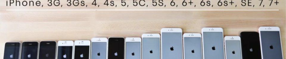 test comparatif de tous les iphone du v1 au 7s iphonejailbreak. Black Bedroom Furniture Sets. Home Design Ideas